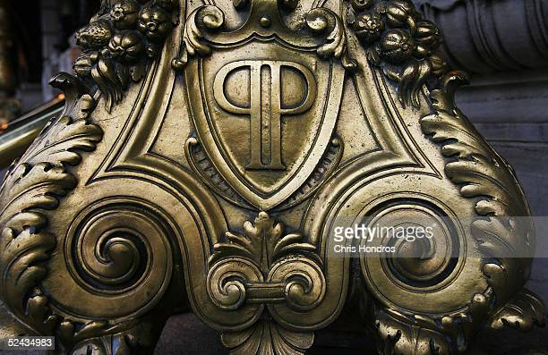 An architectural detail is seen on the exterior of the Plaza Hotel March 16 2005 in New York City The legendary Plaza Hotel which opened in 1907 and...