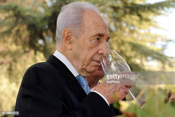 FILE An archive image of Israeli President Shimon Peres attends an event at the pesident's residence in Jerusalem October 16 2011