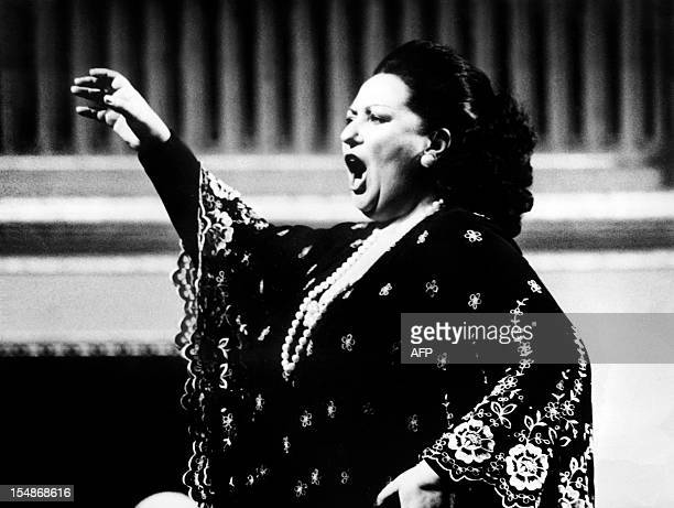 An archive photo taken on September 1 1979 shows Spanish soprano Montserrat Caballe performing in Vienna AFP PHOTO