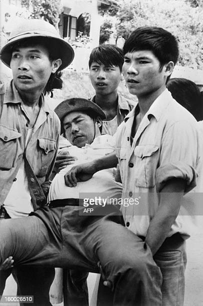 An archive photo taken on September 2 1978 shows a Vietnamese cameraman beaten to unconsciousness New clashes have occured on the Chinese Vietnamese...