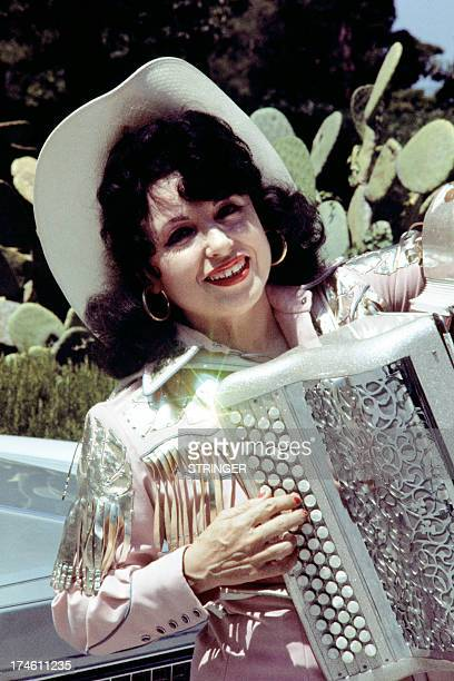 An archive portrait taken on August 2 1977 shows French accordionist Yvette Horner in the French Riviera AFP PHOTO