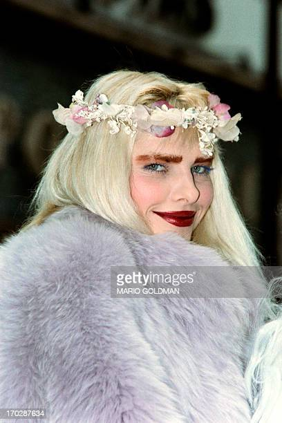 An archive portrait taken on December 20 1987 in Paris shows Ilona Staller known as Cicciolina Italian pornostar and member of Italian Parliament AFP...