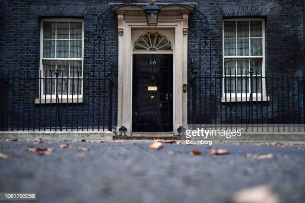 An archway frames the entrance to number 10 Downing Street in London UK on Thursday Nov 15 2018 UK As Brexit Secretary Dominic Raab resigned Prime...