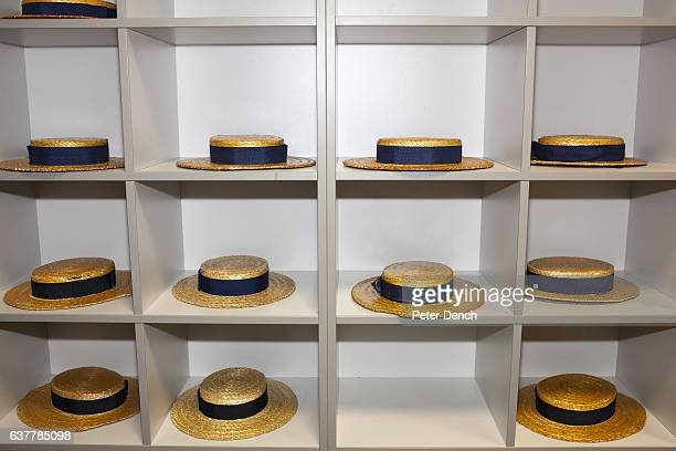 An area at the front of a Physics classroom for Harrow School pupils to leave their straw hats Harrow School is an English independent school for...