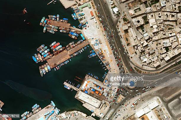 An areal view of Tripoli Harbour