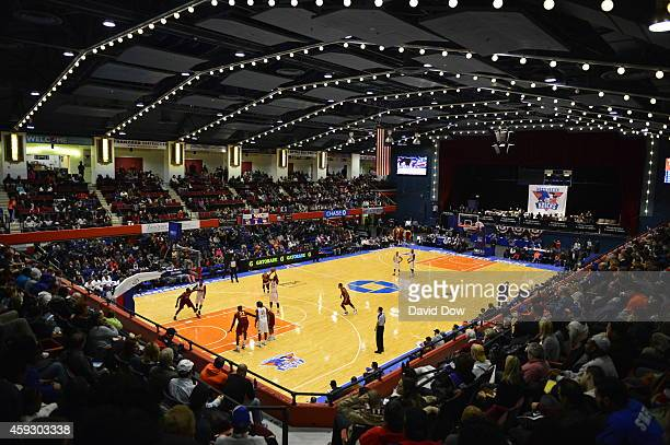 An arena shot of the game between the Canton Charge and the Westchester Knicks at Westchester County Center on November 19, 2014 in Westchester, New...