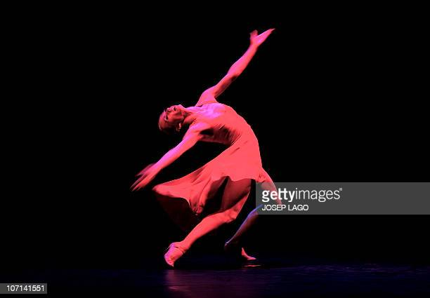 An Argentinian Tango dancer of the Eleonora Cassano Company performs in Barcelona at the Coliseum theatre on October 26 2010 The show named Tango de...