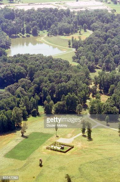 An ariel view of Dale Earnhardt's final resting place with ...