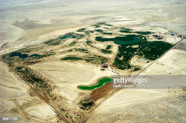 An ariel view of the Dubai Emirates Golf Club and Course during 1987 in Dubai United Arab Emirates