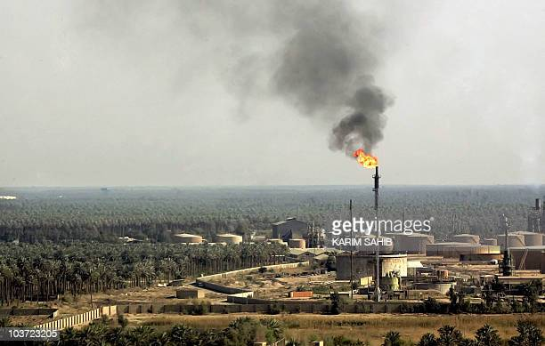 An Ariel view taken 17 March 2006 shows Baghdad's alDora main oil refinary Three years after the USled war against Iraq that started 20 March 2003...
