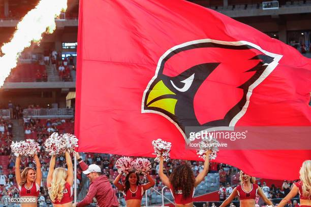 An Arizona Cardinals flag before the NFL preseason football game between the Oakland Raiders and the Arizona Cardinals on August 15 2019 at State...