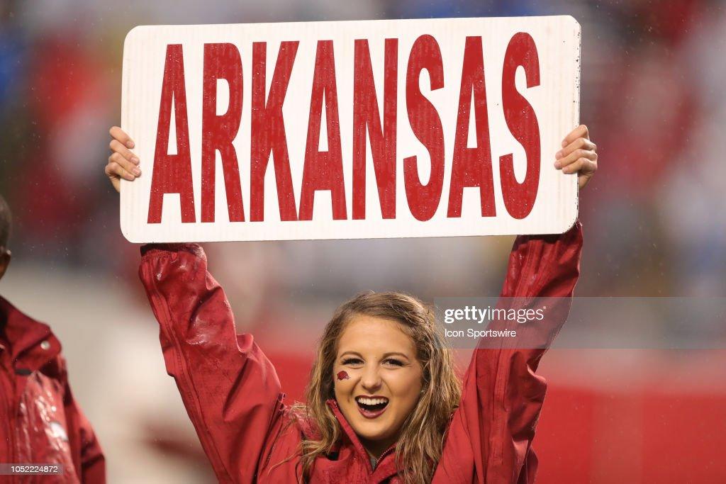 COLLEGE FOOTBALL: OCT 13 Ole Miss at Arkansas : News Photo