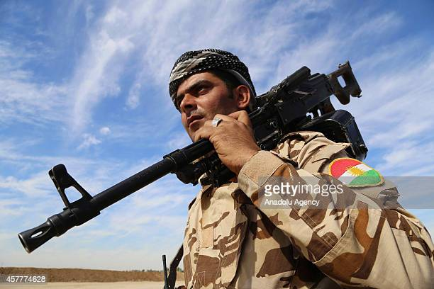 An armed member of Peshmerga forces is seen in Qarah Tapah town of Diyala Governorate where the population of Turkmens is high, Iraq, on October 23,...