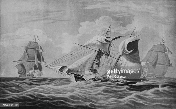 An Armed Merchant Ship Capture' from 'Old Naval Prints' by Charles N Robinson Geoffrey Holme 1924 On 30 April 1812 after a three day chase the...
