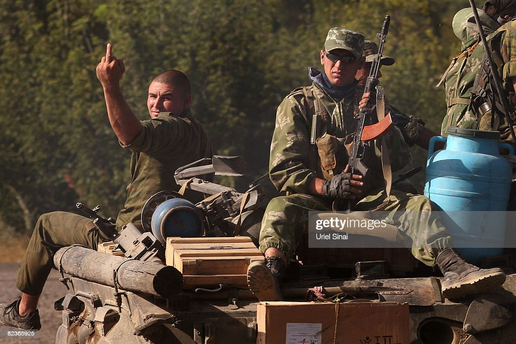 Gori Tense As Russian Forces Linger in City : News Photo
