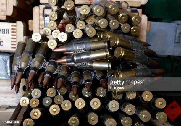 An Armoury packed with multiple weapons and ammunition that is is used for training Peshmerga is under heavy security in an undisclosed location...