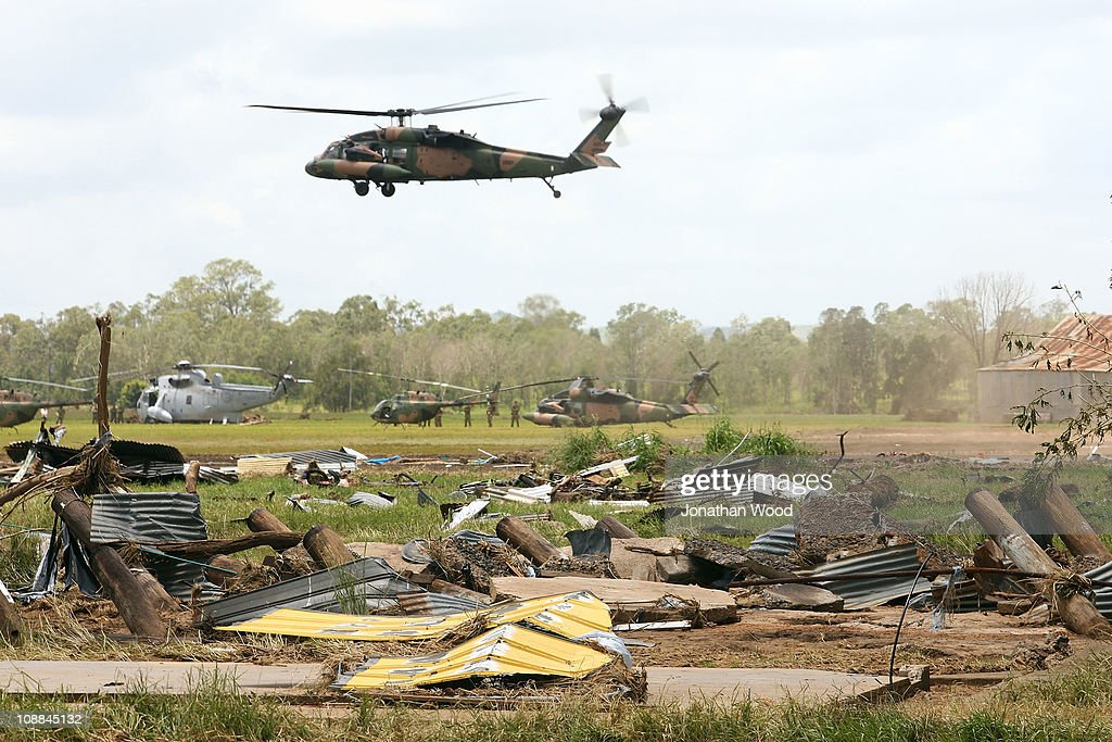 Flood Damaged Queensland Towns Continue Missing People Search : News Photo