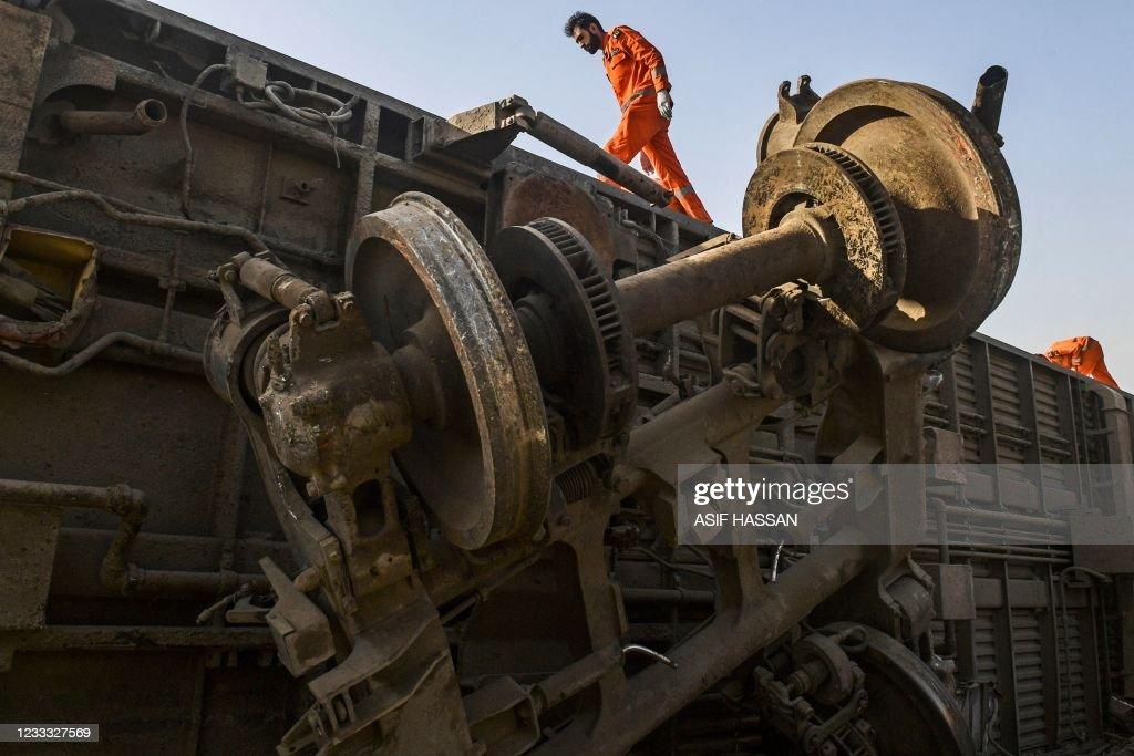 PAKISTAN-TRAIN-ACCIDENT : News Photo