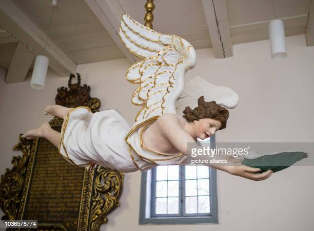 An around 300yearsold baptismal angel can be seen in the village curch of Wulkow Germany 14 January 2016 The baptismal angel of the Wulkow village...