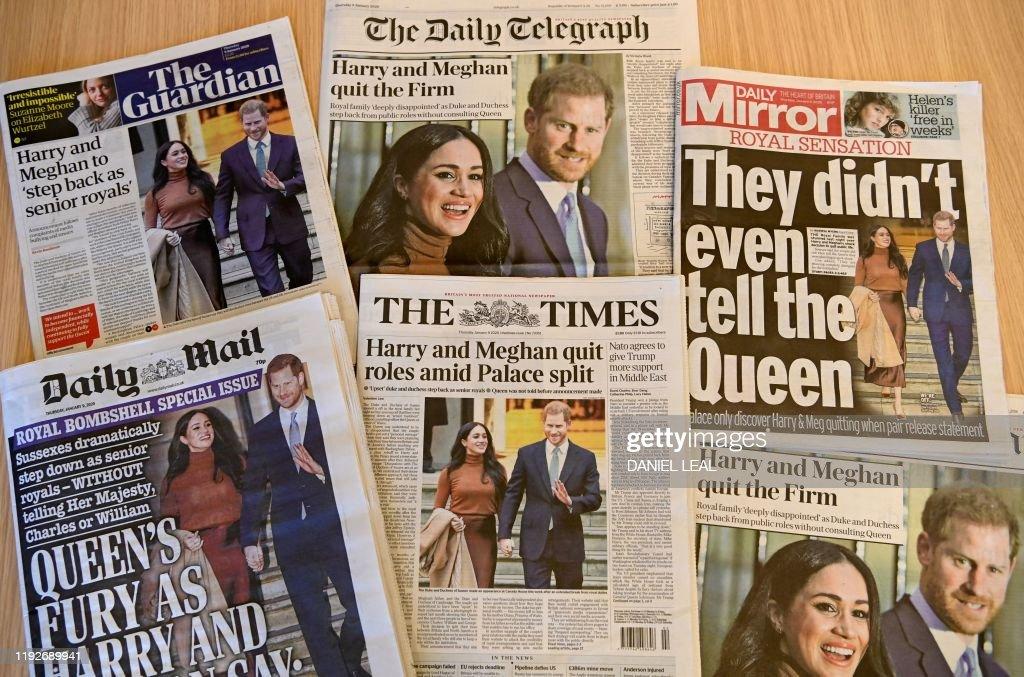 BRITAIN-ROYALS-HARRY-MEGHAN : News Photo