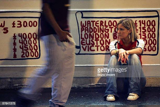 An Arsenal fan looks dejected after Arsenal lost to Barcelona in the Champions League final May 17 2006 in London Arsenal played Barcelona in the...