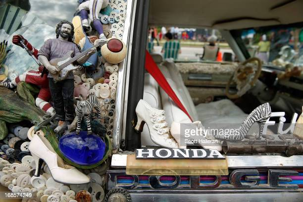 An art car is seen on Allen Parkway during the 26th Annual Houston Art Car Parade on May 11, 2013 in Houston, Texas.