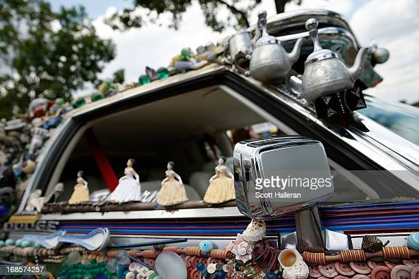 An art car is seen on Allen Parkway during the 26th Annual Houston Art Car Parade on May 11 2013 in Houston Texas
