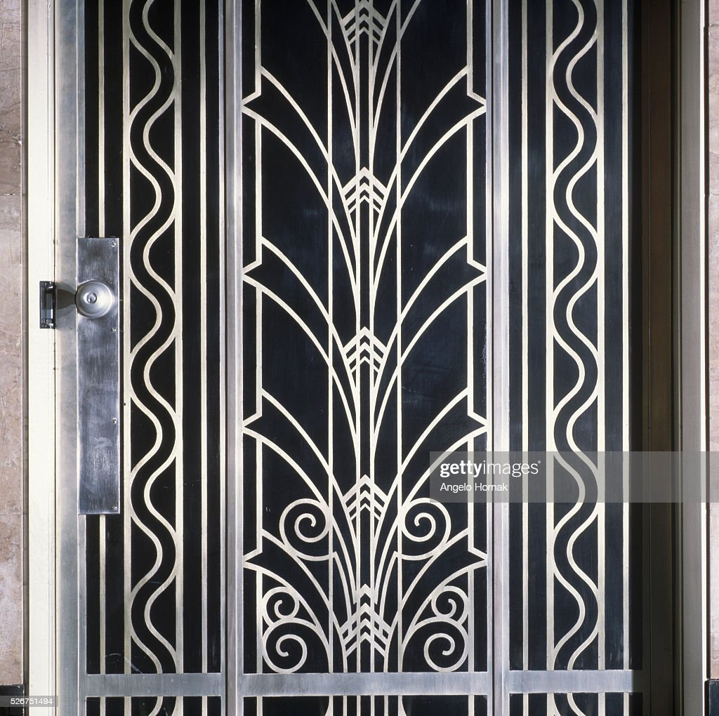 Exceptional An Art Deco Door Panel In The Entrance Lobby Of 375 Madison Avenue. New York
