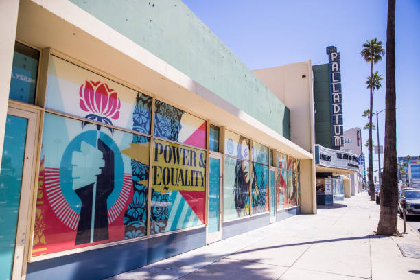 CA: The Art Of Elysium Presents Shepard Fairey Public Art Installation