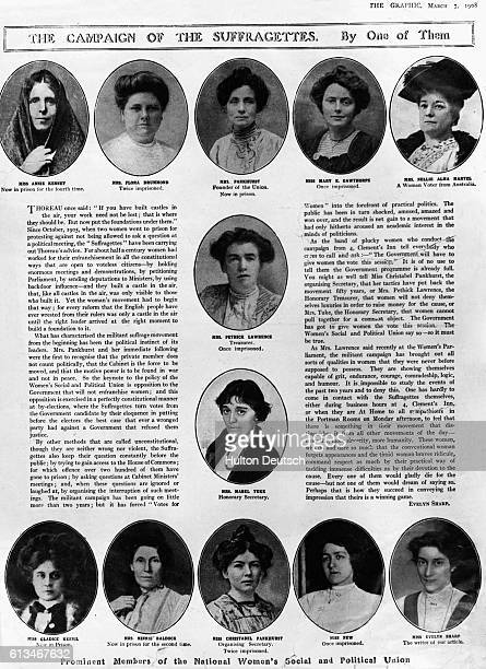 An article on the suffragette movement written by one of the depicted members of the National Women's Social and Political Union