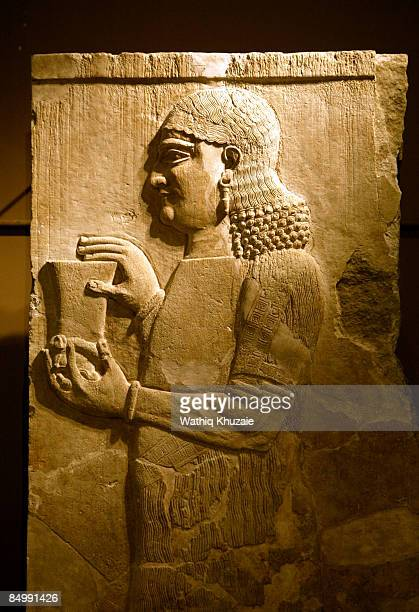 An artifact is seen at Iraq National Museum on February 23 2009 in Baghdad Iraq The Iraqi Prime Minister reopened the museum during a ceremony in...