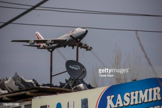 An artificial plane is kept for sale at a shop on February 05 2019 in Srinagar the summer capital of Indian administered Kashmir India Kashmir the...