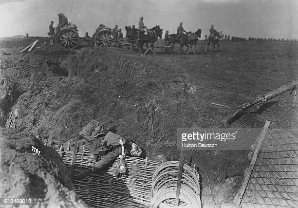 An artillery column advances during the second battle of the Somme The Battle of the Somme was costly in terms of casualties particularly for the...