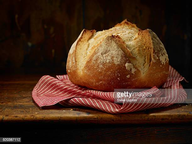 An Artisan Rustic White Coburg Loaf of Bread
