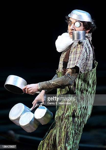 An artist from Cirque du Soleil Totem perform at Royal Albert Hall on January 4 2012 in London England