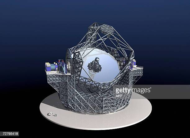 An artist impression image released 11 December 2006 by the ESO of the European Extremely Large Telescope The countries member of the European...