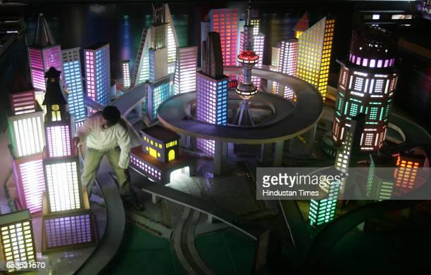 An artist looks at a futuristic art creation transforming Mumbai into the likes of Shanghai Shivadi Madhyavi Bhag Sarvajanik Ganeshotsav Madal made a...