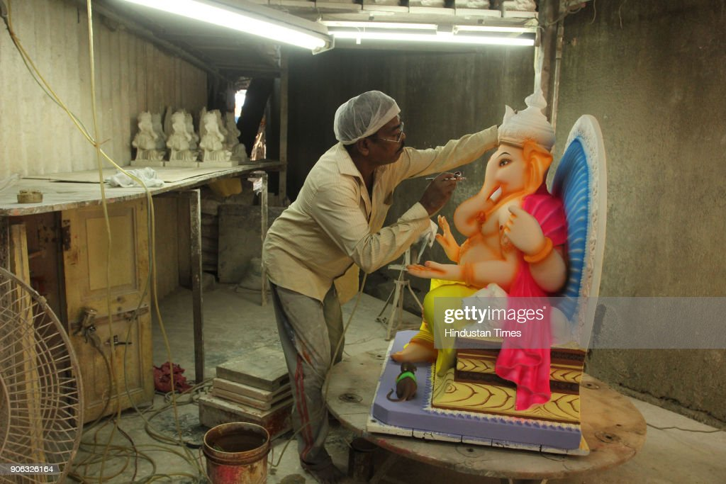 Preparation Of Maghi Ganesh Chaturthi Festival