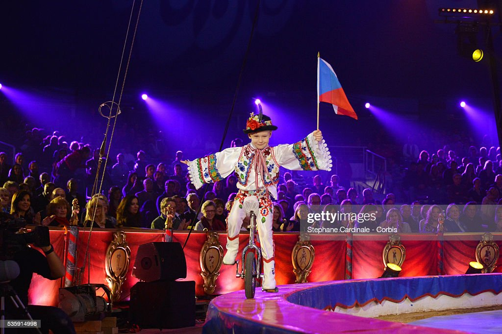 An artist performs during the 38 th Monte-Carlo Circus international Festival, in Monaco.