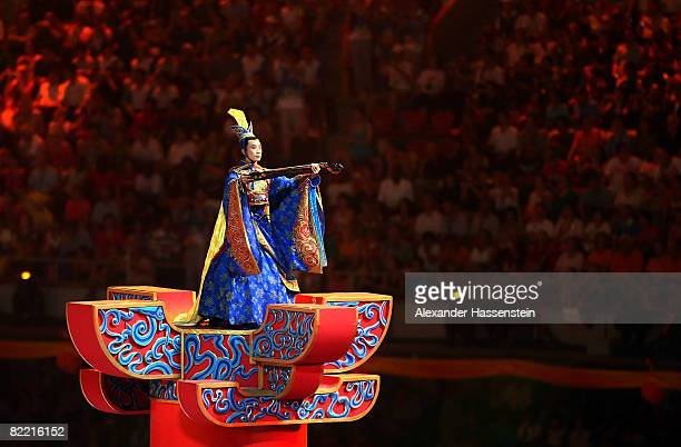 An artist performs during the Opening Ceremony for the 2008 Beijing Summer Olympics at the National Stadium on August 8, 2008 in Beijing, China.