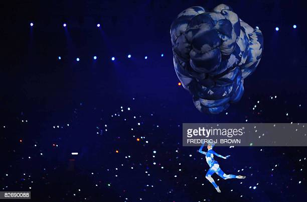 An artist performs during the opening ceremony for the 2008 Beijing Paralympic Games at the National Stadium also known as the Bird's Nest in the...