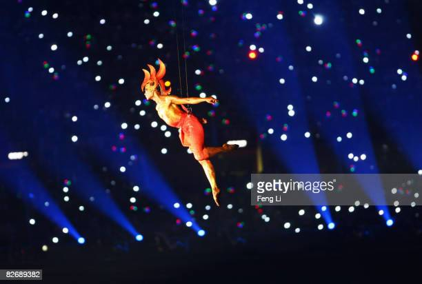 An artist performs during the Opening Ceremony for the 2008 Paralympic Games at the National Stadium on September 6, 2008 in Beijing, China.
