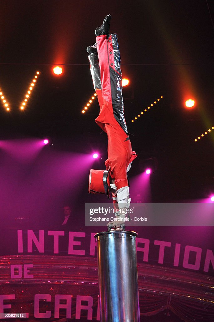 An artist performs during the opening ceremony of the Monte-Carlo 35th International Circus Festival 2011, in Monaco.