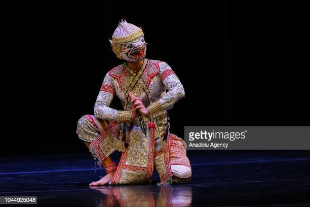 An artist performs to Thai traditional music within the Thai Cultural Events at Ahmed Adnan Saygun Arts Center In Izmir Turkey on October 02 2018...