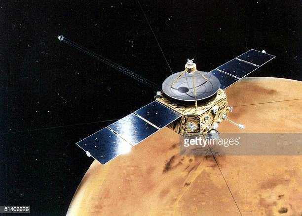 An artist rendition of the Mars orbiter PlanetB craft moving around Mars released 04 July Japan successfully launched its first Mars orbiter mission...