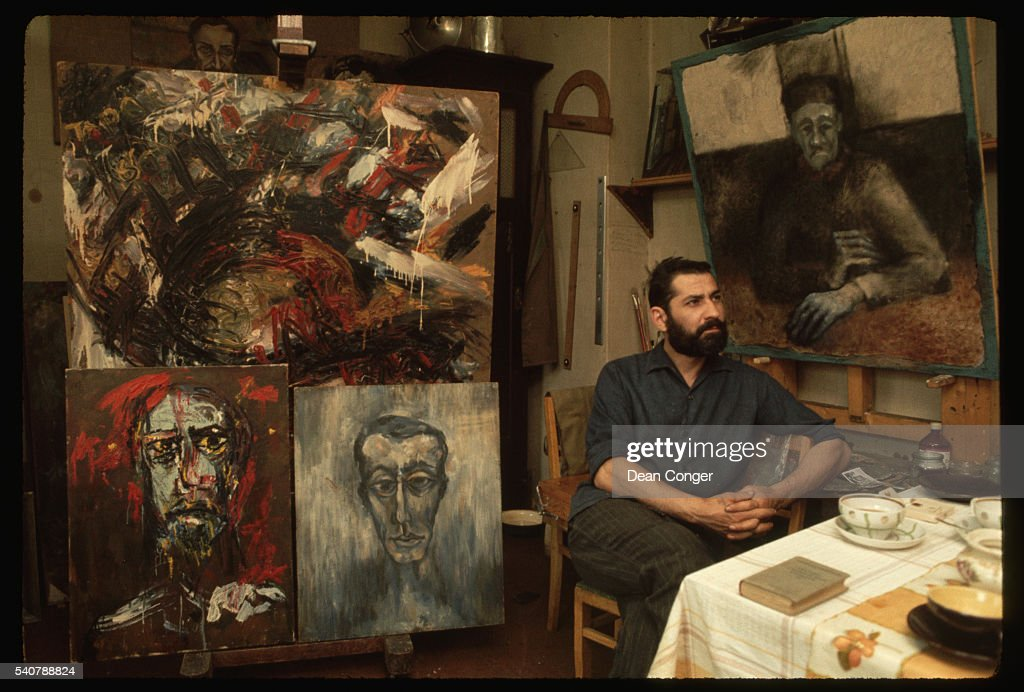 A Dissident Artist in His Studio Flat : News Photo