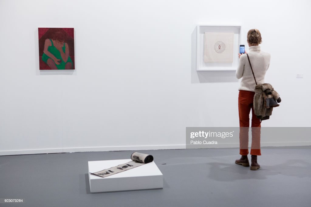 An artistic piece is exhibited at ARCO Contemporary Art Fair at Ifema on February 22, 2018 in Madrid, Spain.