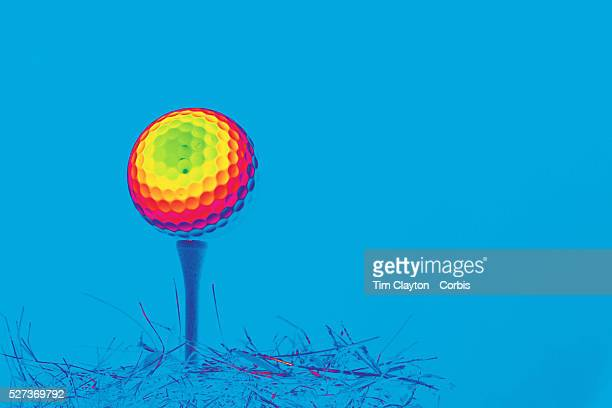 An artistic studio shot of a Golf Ball on a tee 20th October 2012 Photo Tim Clayton