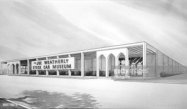 An artist's conception of the brand new Joe Weatherly Stock Car Museum at the site of Darlington Raceway. Curtis Turner participated in the...