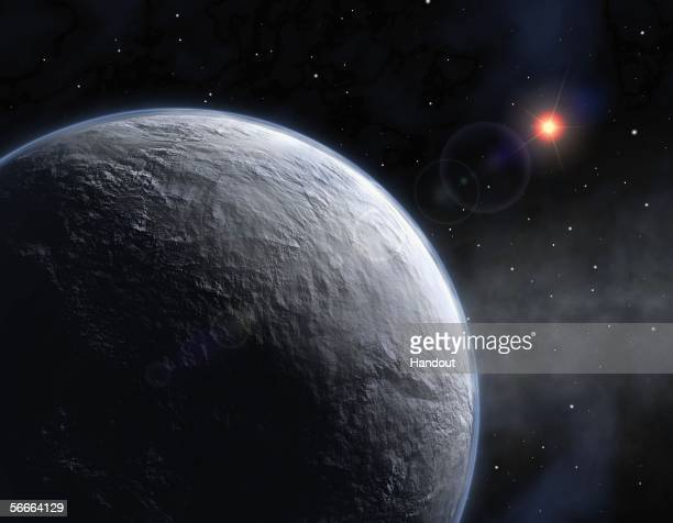 An artist's impression of newly discovered planet, named OGLE-2005-BLG-390Lb, which has been discovered in a project involving two scientists from St...